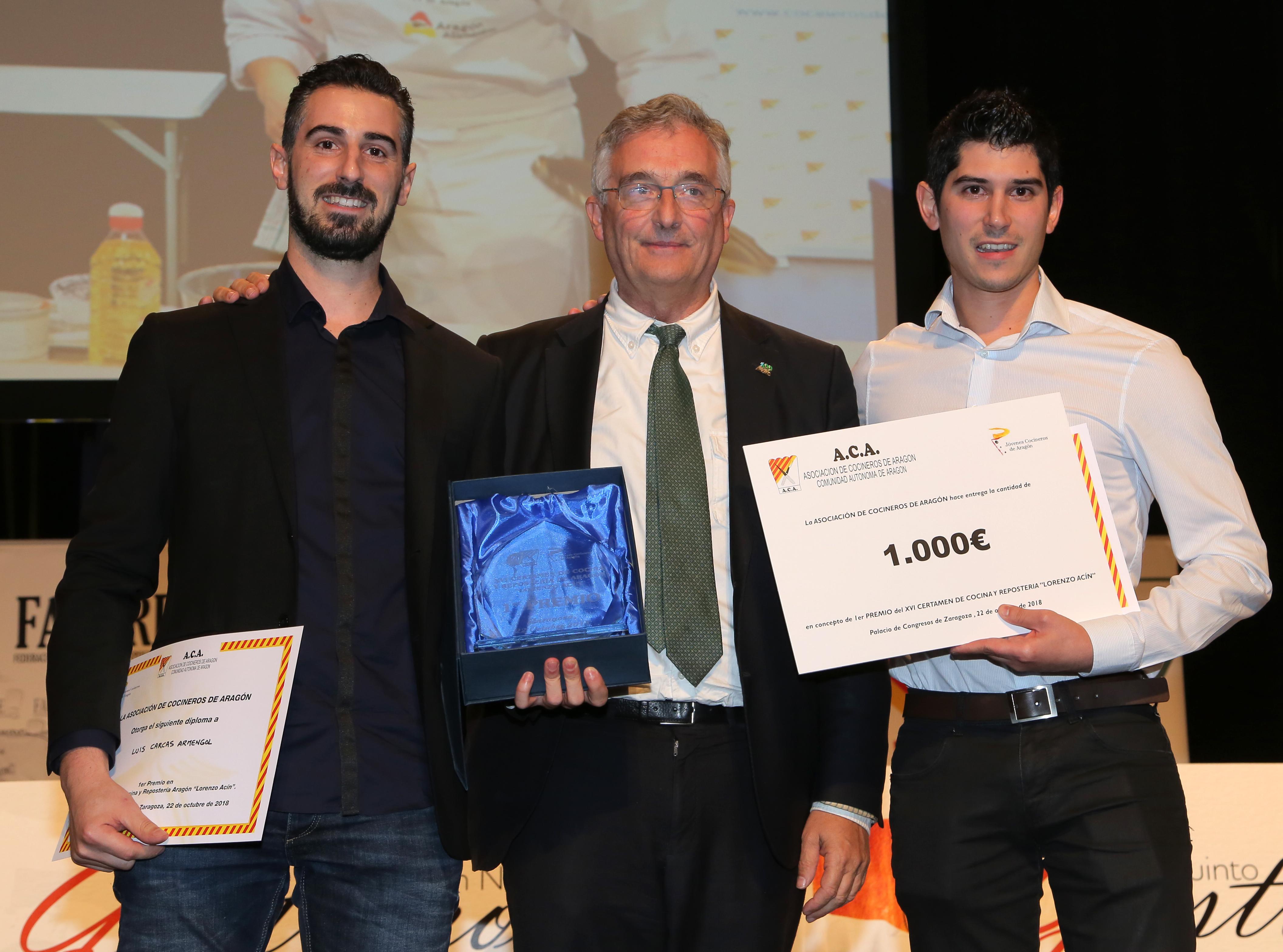 En este momento estás viendo Javier y Luis Antonio Carcas, ganadores del XVI Certamen de Cocina y Repostería de Aragón