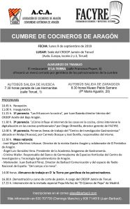 Lee más sobre el artículo Programa de la Cumbre de Cocineros en la Sede del CRDOP Jamón de Teruel