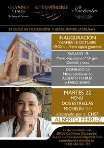 Lee más sobre el artículo El espacio gastronómico EntreViñedos abre sus puertas de la mano del chef Alberto Ferruz.