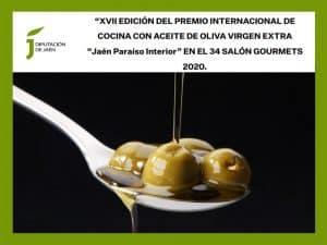 Lee más sobre el artículo Convocatoria del Premio Internacional de Cocina con Aceite de Oliva Virgen Extra 'Jaén Paraíso Interior' 2020