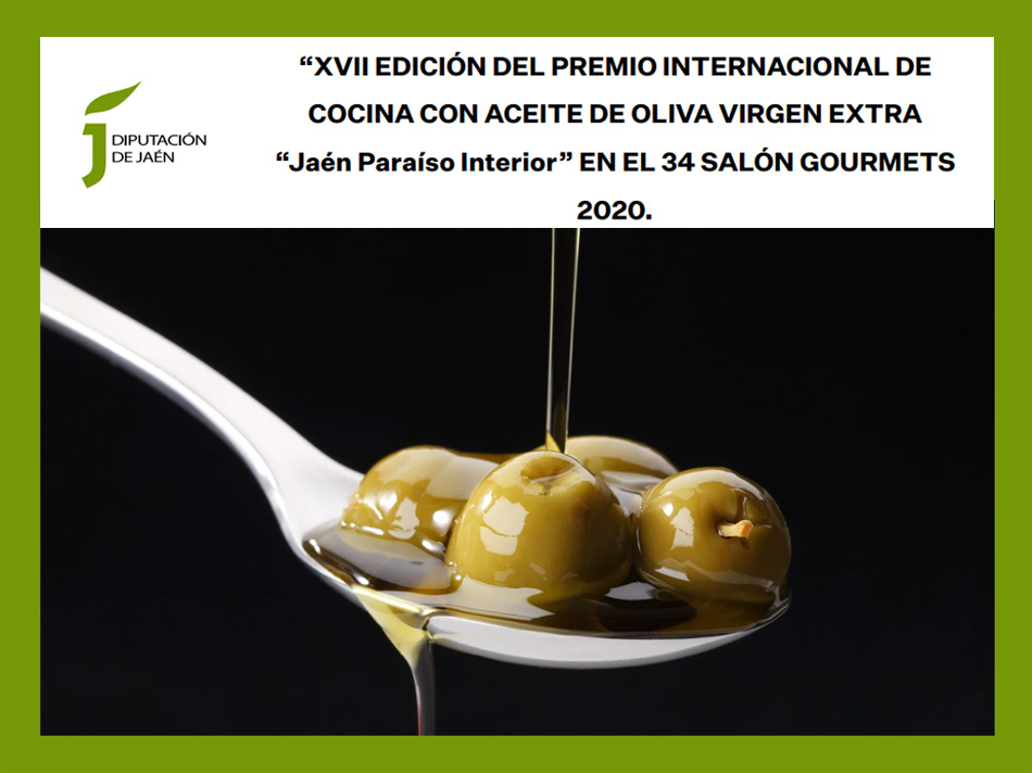 En este momento estás viendo Convocatoria del Premio Internacional de Cocina con Aceite de Oliva Virgen Extra 'Jaén Paraíso Interior' 2020