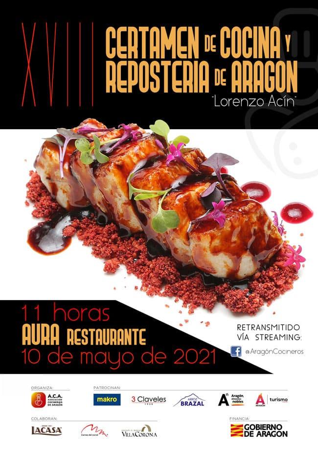 Lee más sobre el artículo XVIII Certamen de cocina y repostería de Aragón «Lorenzo Acín»